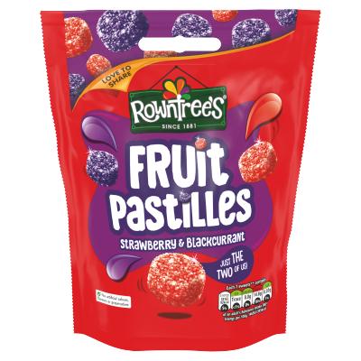 Rowntree's Fruit Pastilles Strawberry & Blackcurrant Sharing Bag 150g