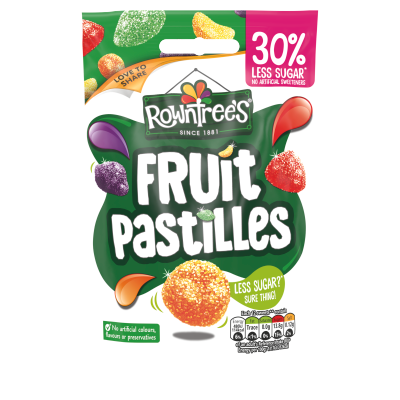 Rowntree's 30% Less Sugar Fruit Pastilles 110g