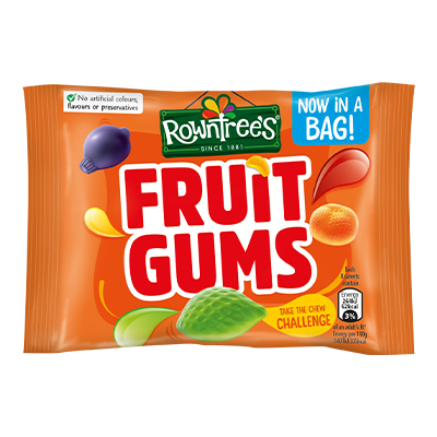 rowntrees fruit gums sweets bag 43.5g