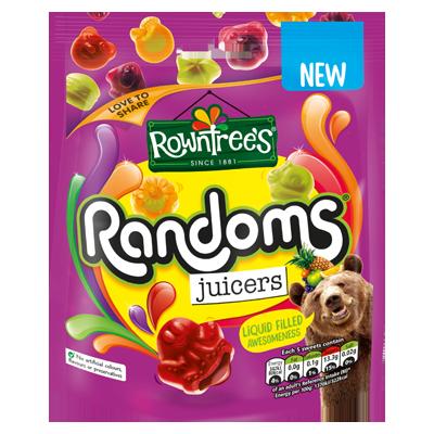 ROWNTREE'S Randoms Juicers Sweets Sharing Bag 140g