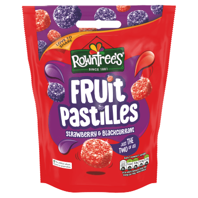 Rowntree's Fruit Pastilles Strawberry & Blackcurrant Sharing Pouch 150g