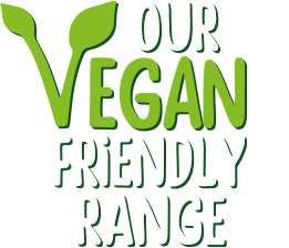 Our vegan friendly range